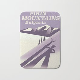 Pirin Mountains Bulgaria Ski Bath Mat