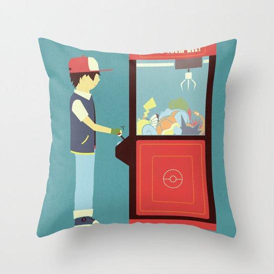 Claw Machine Throw Pillow