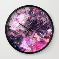 gem Wall Clocks featuring Gem by Simona Sacchi