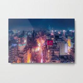 Retro Future Tokyo Metal Print