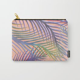 Palm Leaves Pattern - Purple, Peach, Blue Carry-All Pouch