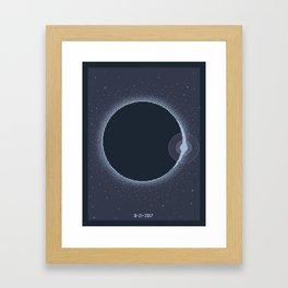 Total Solar Eclipse Summer 2017 Commemorative Poster (Pixel Art) Framed Art Print