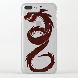 Chloe RED DRAGON Clear iPhone Case