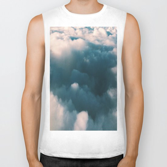 Blue Clouds Biker Tank