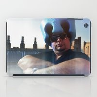 superheroes iPad Cases featuring Superheroes SF by Sookie Endo