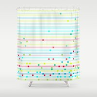madoka magica Shower Curtains featuring mascara magica by Flormolto