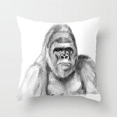 Gorilla male sketch SK020 Throw Pillow