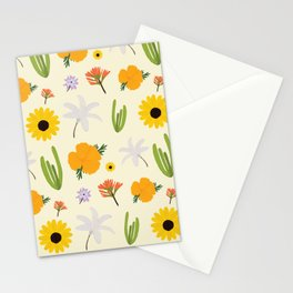 California Wildflower Pattern Stationery Cards