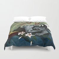 "dragon age Duvet Covers featuring Dragon Age - Qunari - Betrayal by Barbara ""Yuhime"" Wyrowińska"