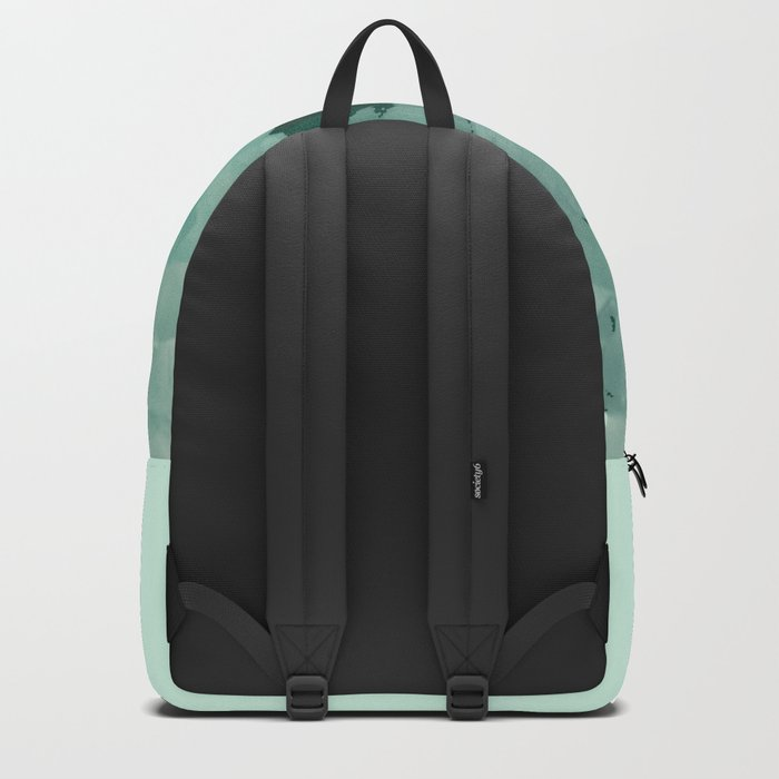 Simone on Teal Roses Backpack