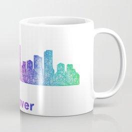 Rainbow Denver skyline Coffee Mug