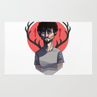 will graham Area & Throw Rugs featuring Will Graham by nucleir