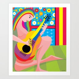 The-musician Art Print