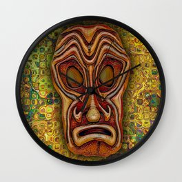 BrownTiki Yellow Glass Wall Clock
