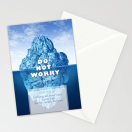 1 Peter 5:7 Worry Stationery Cards