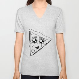 Pizza Sketch Unisex V-Neck