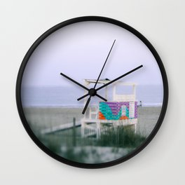 Colorful Lifeguard Stand Wall Clock