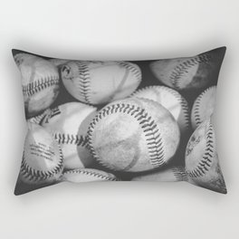 Baseballs in Black and White Rectangular Pillow