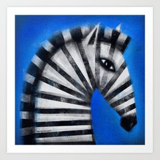 STRIPED PROFILE Art Print