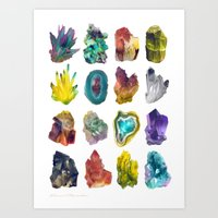 crystals Art Prints featuring Crystals by ShannonPosedenti