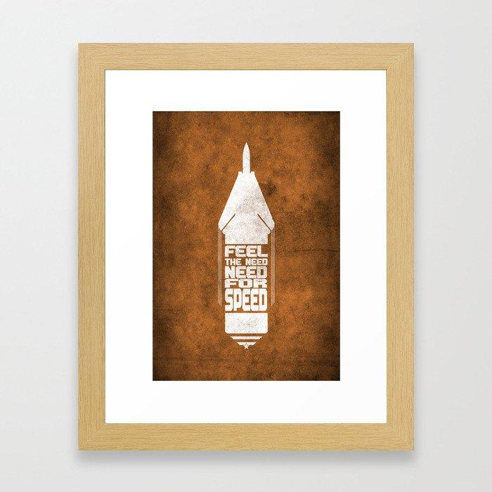 Movie Poster - Top gun Framed Art Print