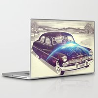 spaceship Laptop & iPad Skins featuring mercury spaceship by Kiki collagist
