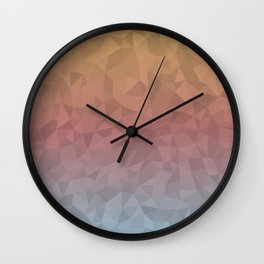 Dull Ombre Wall Clock