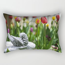 A Bird And A Tulip Rectangular Pillow