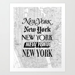 New York City black and white New York poster I love heart NYC Design black-white home wall decor Art Print