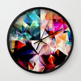 Colorful Geometric Abstract Wall Clock
