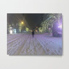 Commute Blizzard of 2016 Metal Print