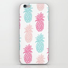 Pineapple Summer (pink and blue) iPhone Skin