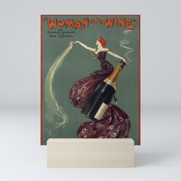 WOMAN and WINE Theater Vintage Poster Mini Art Print