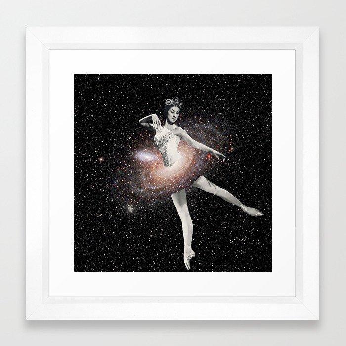 Cosmic Ballerina, Part 2 Framed Art Print by eugenialoli   Society6