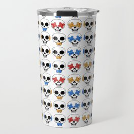 Cute Skulls No Evil II Pattern Travel Mug