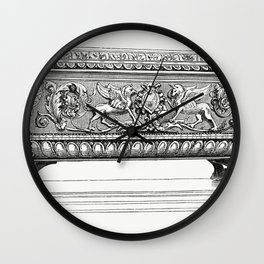 Carved Wooden Box (1862) from Gazette Des Beaux-Arts a French art review Wall Clock