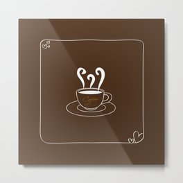 I Love Coffee Metal Print