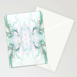 smoke on the flower of life Stationery Cards