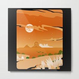 Monument Moon Metal Print