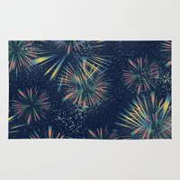 fireworks Area & Throw Rugs featuring Fireworks! by LLL Creations