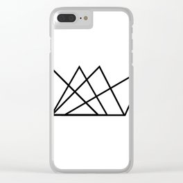 Triangular Crown Clear iPhone Case