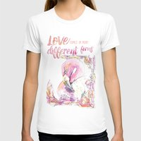 flamingos T-shirts featuring Flamingos  by Carvel