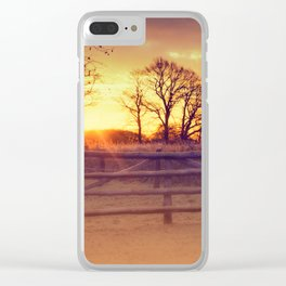 February winter morning Clear iPhone Case