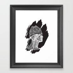 Wrong Brain Framed Art Print