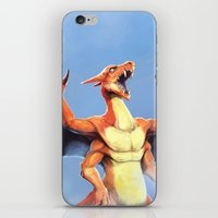 charizard iPhone & iPod Skins featuring Charizard    by Default Pixel