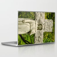 religious Laptop & iPad Skins featuring Religious Statue by Michael Moriarty Photography