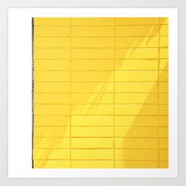 Yellow Midcentury Modern Wall in Palm Springs - Abstract Minimalist Photography Art Print