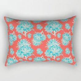 Artichoticka Cyan Rectangular Pillow