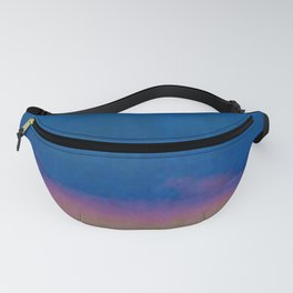 Abstract Sunset Over Blue Water Fanny Pack
