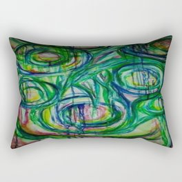 The Blues Cycle Watercolor Painting Rectangular Pillow